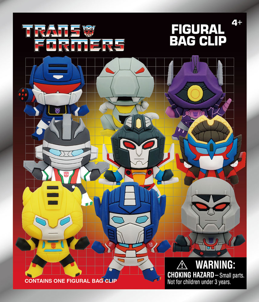 Transformers 3D Foam Bag Clip 24-Piece Blind Mystery Box Display  - Monogram Products
