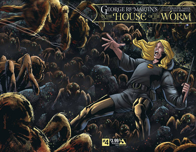 Image: In the House of the Worm #4 (wraparound cover) - Avatar Press Inc