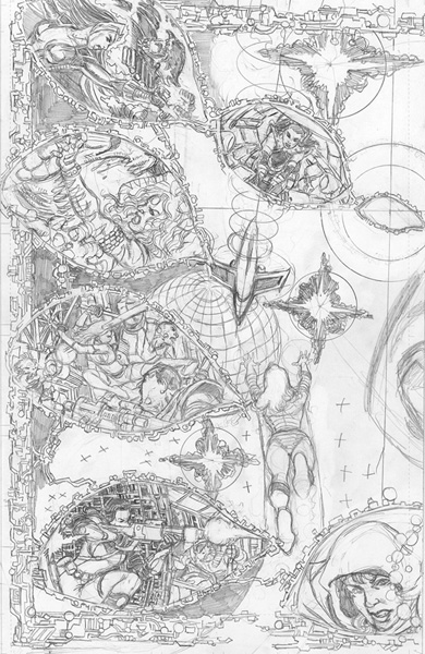 Image: George Perez' Sirens #2 (variant incentive cover - Pencils Left) (25-copy) - Boom! Studios