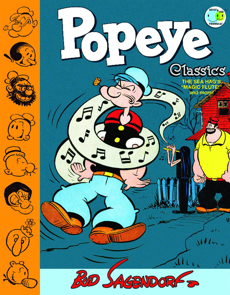 Image: Popeye Classics Vol. 09: The Sea Hag's Magic Flute and More HC  - IDW Publishing