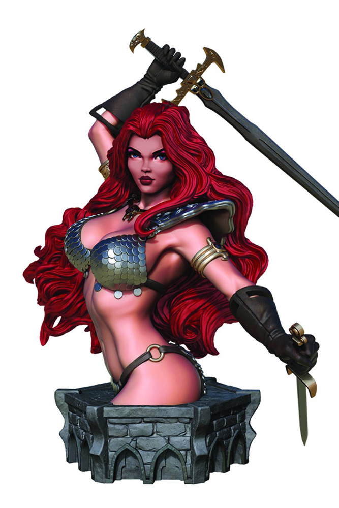 Image: Women of Dynamite Resin Bust: Red Sonja by Arthur Adams  - Dynamite