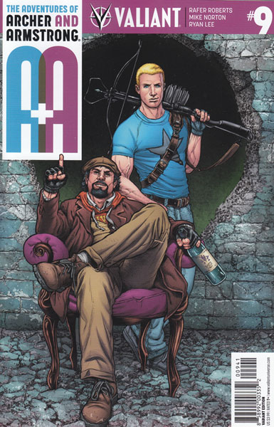 Image: A&A: The Adventures of Archer & Armstrong #9 (Ryp incentive cover - 00941) (20-copy)  [2016] - Valiant Entertainment LLC