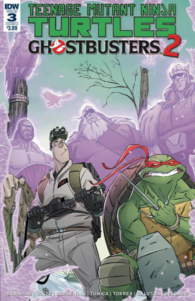 Image: Teenage Mutant Ninja Turtles / Ghostbusters 2 #3 (cover A - Schoening)  [2017] - IDW Publishing