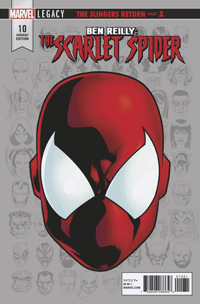 Image: Ben Reilly: The Scarlet Spider #10 (Legacy) (variant Legacy Headshot cover - Mike McKone)  [2017] - Marvel Comics