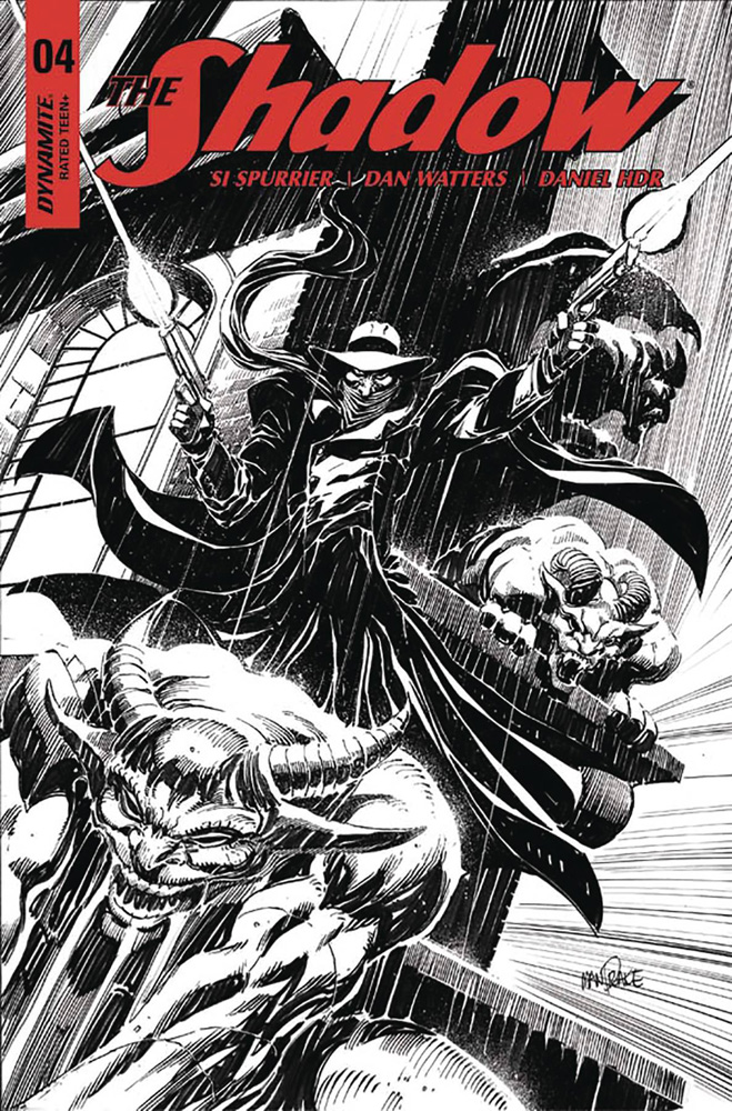 Image: Shadow Vol. 03 #4 (cover E incentive - Mandrake B&W) (20-copy)  [2017] - Dynamite