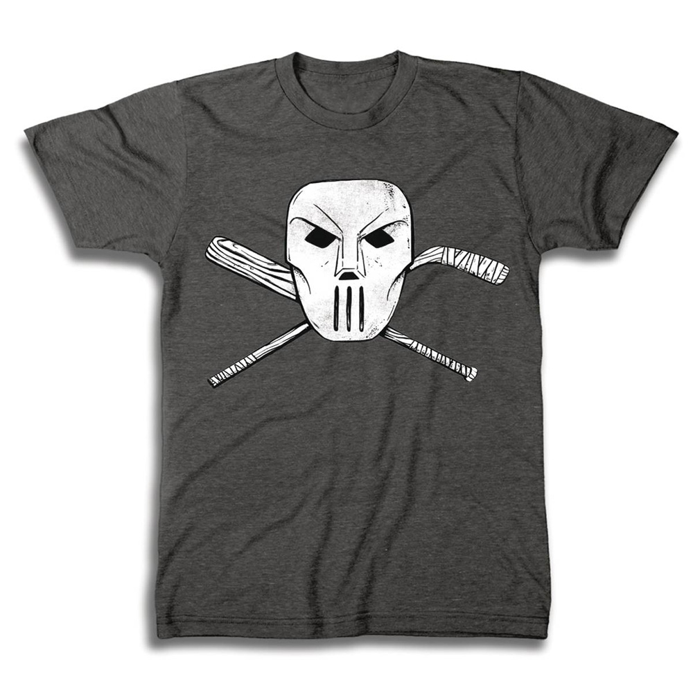 Image: TMNT T-Shirt: Casey Jones Mask & Cross Bones [Charcoal Heather]  (S) - Freeze Cmi