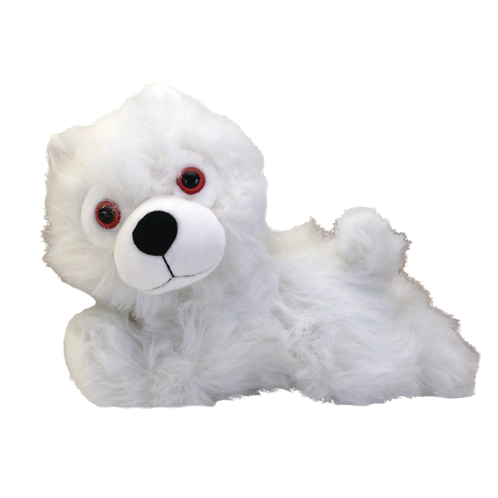 Image: Game of Thrones Plush: Ghost Direwolf Prone Cub  - Factory Entertainment