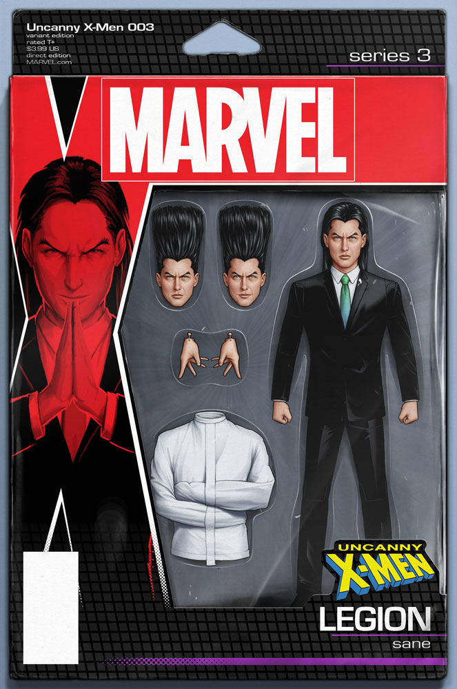 Image: Uncanny X-Men #3 (variant Action Figure cover - Christopher)  [2018] - Marvel Comics
