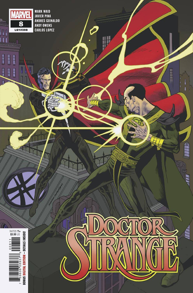 Doc faces his classic foe Baron Mordo on this cover for Doctor Strange #8