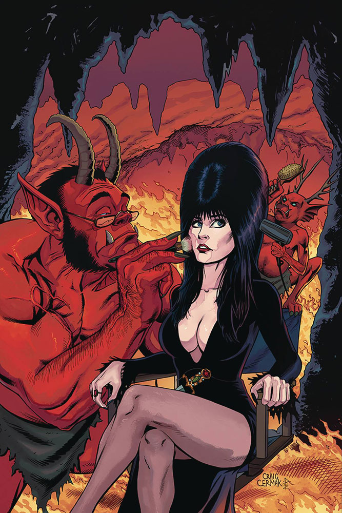 Image: Elvira: Mistress of the Dark #5 (incentive cover - Cermak virgin) (10-copy)  [2018] - Dynamite