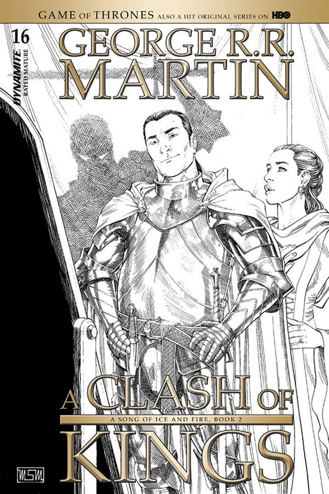 Image: George R. R. Martin's A Clash of Kings #16 (incentive cover - Miller B&W) (10-copy)  [2018] - Dynamite