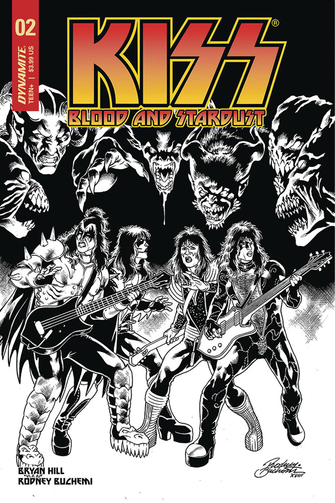 Image: Kiss: Blood and Stardust #2 (incentive cover - Buchemi B&W) (10-copy)  [2018] - Dynamite