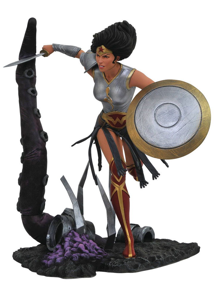 Image: DC Gallery PVC Diorama: Wonder Woman  (Dark Knights: Metal) - Diamond Select Toys LLC