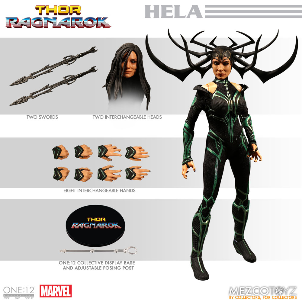One:12 Collective Marvel Action Figure: Thor Ragnarok - Hela  - Mezco Toys