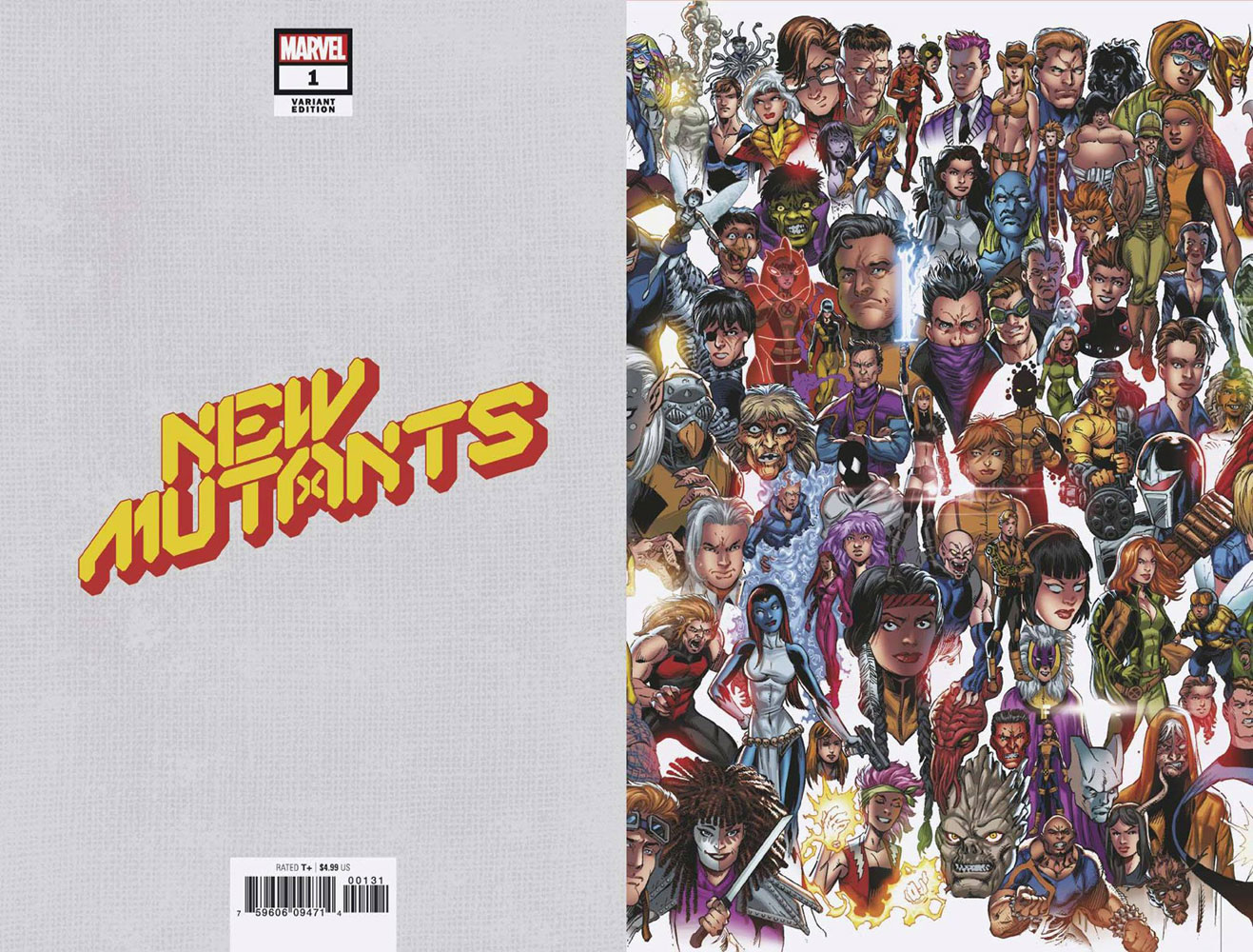 New Mutants #1 (variant Every Mutant Ever cover - Bagley) (5 of 6)  [2019] - Marvel Comics