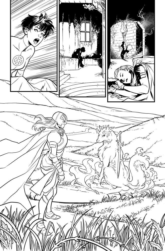 Excalibur #2 (DX) (incentive cover - Schmidt)  [2019] - Marvel Comics