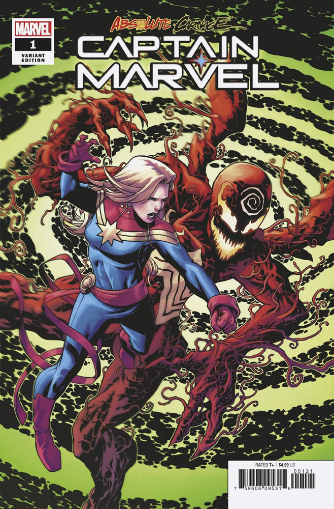 Image: Absolute Carnage: Captain Marvel #1 (incentive cover - Mike McKone) - Marvel Comics