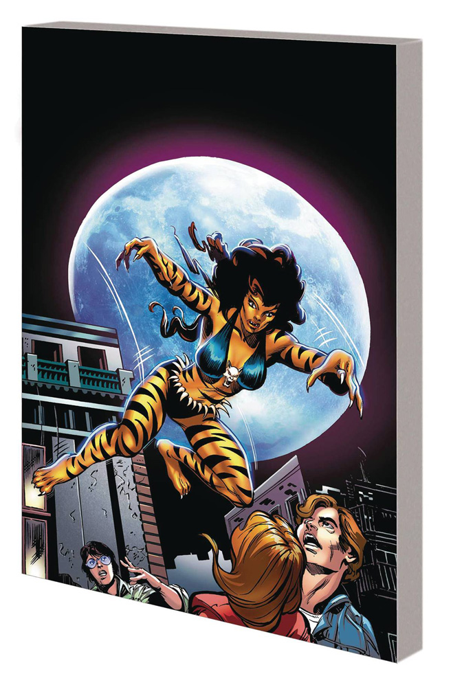 Tigra: The Complete Collection cover by Howard Chaykin and Bernie Wrightson, who also appear on the cover.
