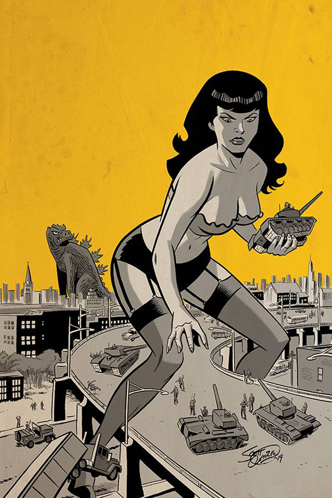 Image: Bettie Page: Unbound Vol. 03 #8 (incentive 1:30 cover - Chantler virgin)  [2019] - Dynamite