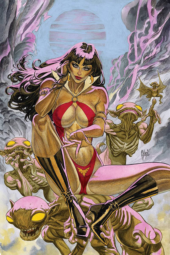 Image: Vampirella Vol. 05 #5 (incentive 1:40 cover - March virgin) - Dynamite