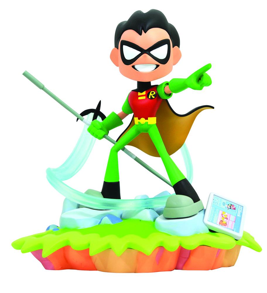 DC Gallery Teen Titans Go PVC Statue: Robin  - Diamond Select Toys LLC