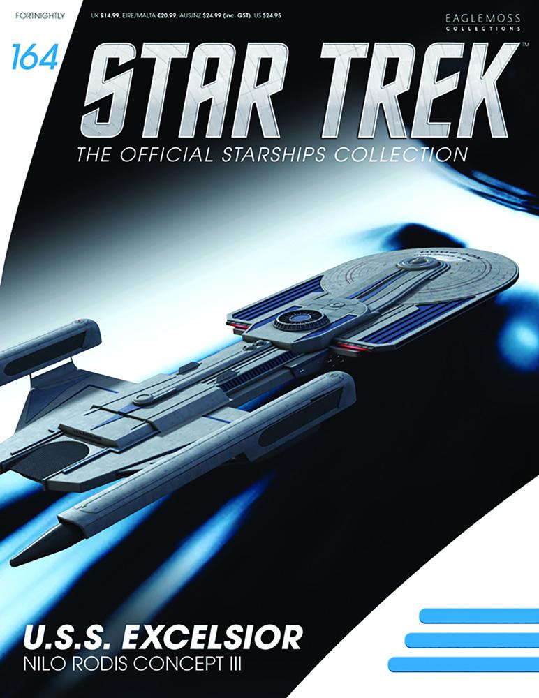 Star Trek Starships Figure Magazine #164 (USS Excelsior Nilo Rodis Concept) - Eaglemoss Publications Ltd