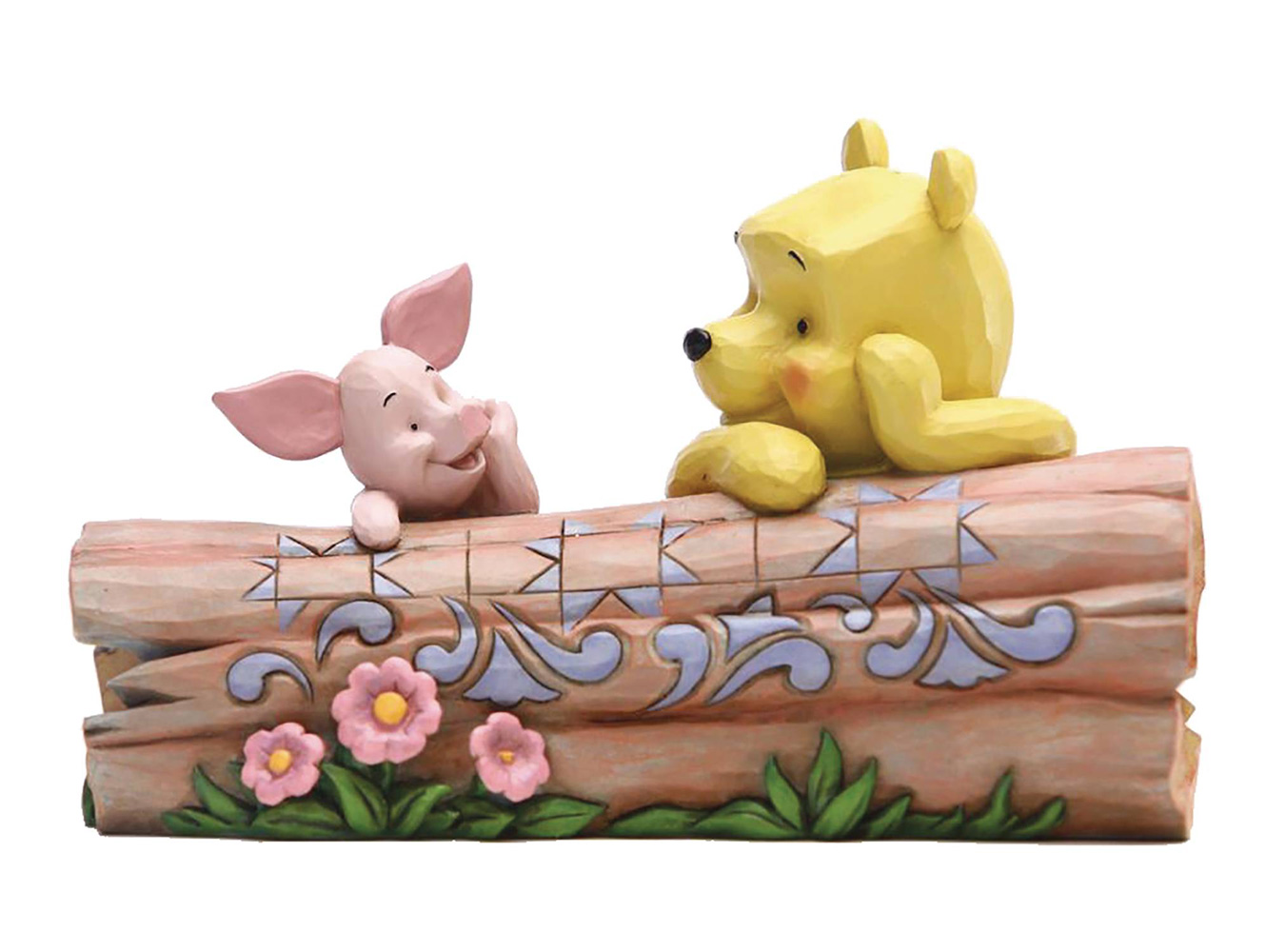 Image: Disney Jim Shore Figure: Winnie the Pooh & Piglet  (3.8-inch) - Enesco Corporation