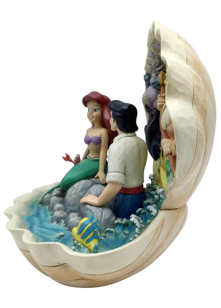 Disney Figurine: Little Mermaid - Shell Scene  (8-inch) - Enesco Corporation