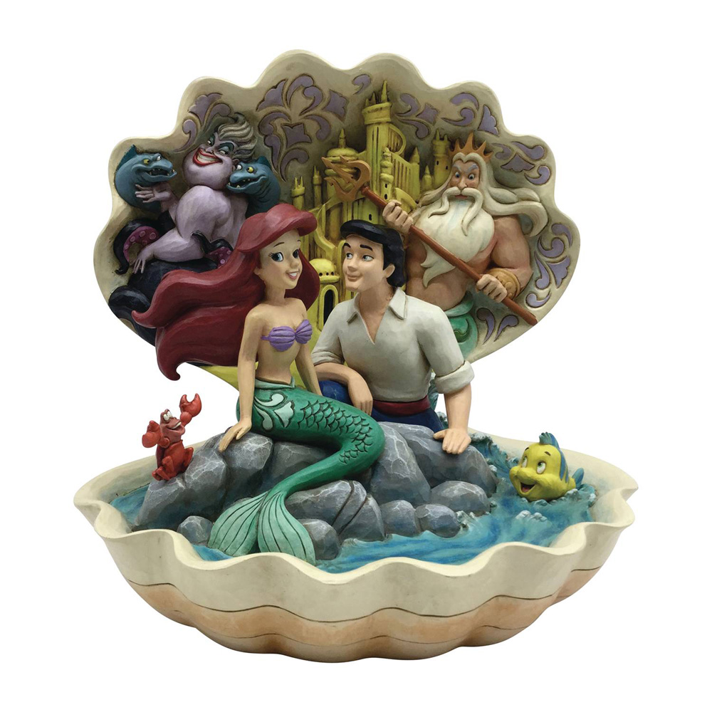 Image: Disney Figurine: Little Mermaid - Shell Scene  (8-inch) - Enesco Corporation