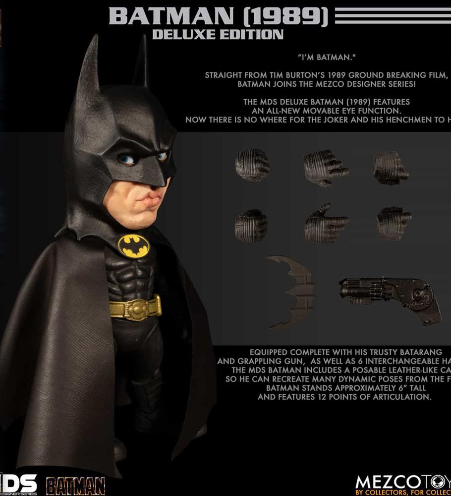 MDS Deluxe Figure: Batman  (1989) (6-inch) - Mezco Toys