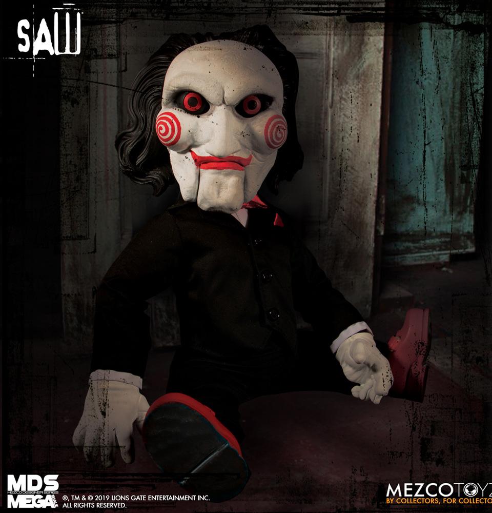 MDS Mega Scale Saw Figure: Talking Billy  - Mezco Toys