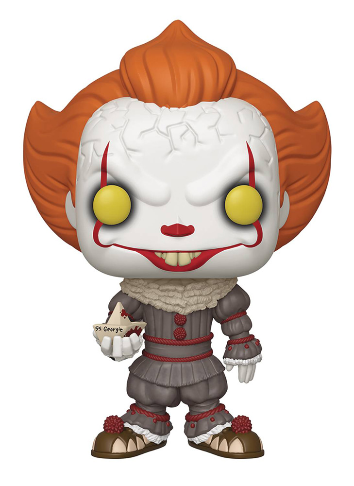 Image: Pop! Movies Vinyl Figure: It Chapter 1 - Pennywise  (w/Boat) (10-inch) - Funko