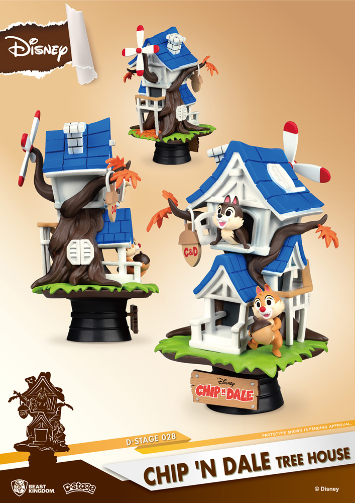 Disney Ds-028 D-Stage PX Statue: Chip N Dale Treehouse  (6-inch) - Beast Kingdom Co., Ltd