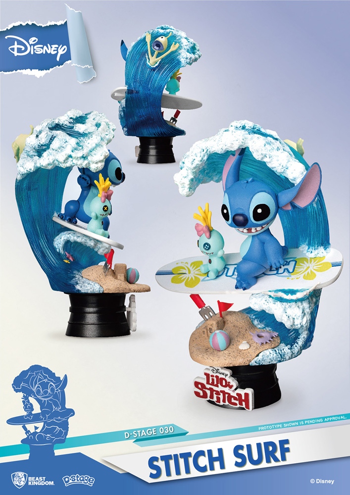 Lilo & Stitch DS-030 D-Stage Series PX Statue: Stitch Surf  (6-inch) - Beast Kingdom Co., Ltd