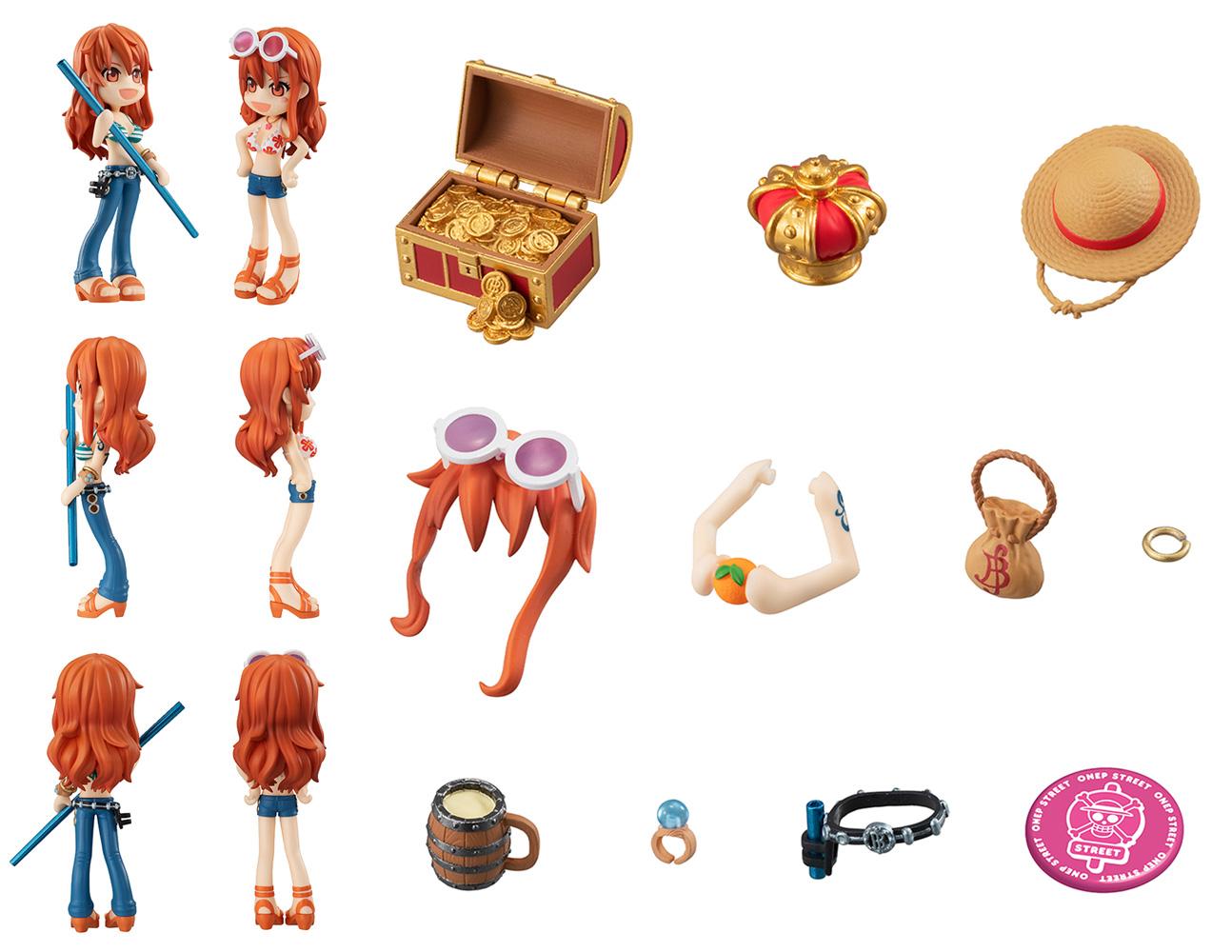 One Piece P O P X PVC Figure: Pinky Street Nami  - Megahouse Corporation