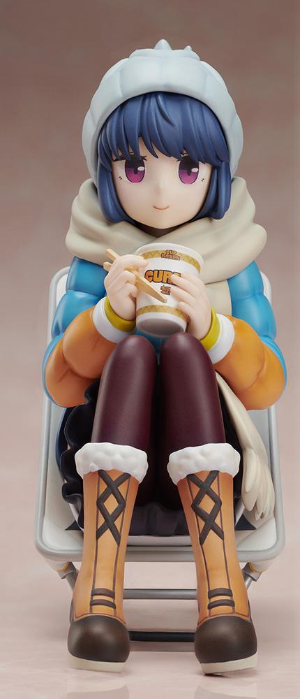 Laid Back Camp PVC Figure: Noodle Stop Rin Shima  (1/8 scale) - Furyu Corporation