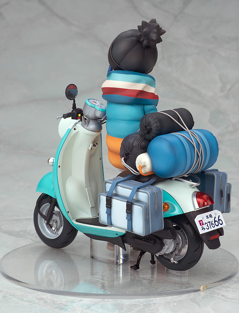 Laid Back Camp PVC Figure: Stamp Rin Shima  (w/Scooter) (1/10 scale) - Alter