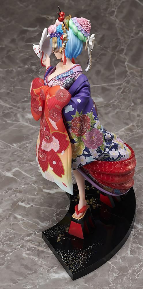 Re Zero Starting Life PVC Figure: Rem  (Oiran Dochu version) (1/7 scale) - Furyu Corporation