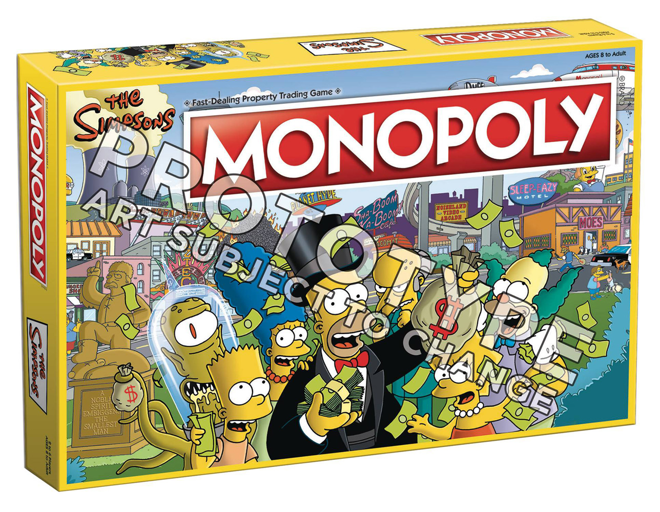 Image: Monopoly Boardgame: Simpsons Edition  - Usaopoly