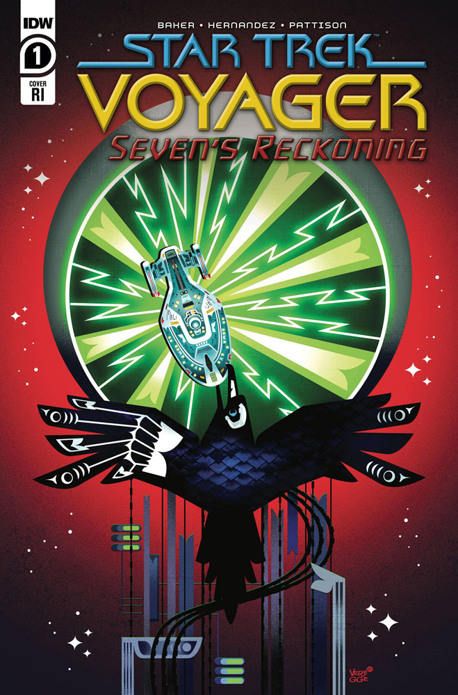 Image: Star Trek: Voyager - Seven's Reckoning #1 (incentive 1:10 cover - Veregge)  [2020] - IDW Publishing