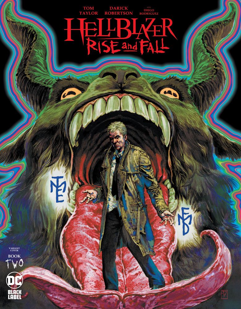 Image: Hellblazer: Rise and Fall #2 (variant cover - J.H. Williams III) - DC - Black Label
