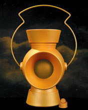 Image: Yellow Lantern 1:1 Power Battery Prop With Ring  - DC Comics