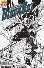 Image: Black Bat #2 (25-copy Tan B&W incentive cover) - Dynamite