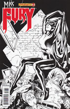 Image: Miss Fury #3 (25-copy Tan B&W incentive cover) - Dynamite