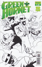 Image: Mark Waid's Green Hornet #4 (15-copy Rivera B&W incentive cover) - Dynamite