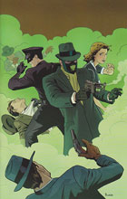 Image: Mark Waid's Green Hornet #4 (25-copy Rivera virgin incentive cover) - Dynamite