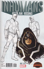 Image: Inhumans: Attilan Rising #2 (Johnson design variant cover) - Marvel Comics