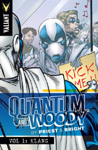 Image: Quantum & Woody by Priest & Bright Vol. 01: Klang SC  - Valiant Entertainment LLC