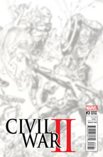 Image: Civil War II #3 (Gi b&w virgin Connecting D variant cover)  [2016] - Marvel Comics