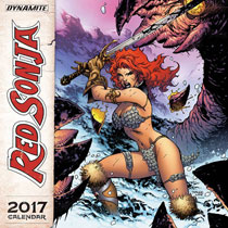 Image: Red Sonja 2017 Wall Calendar  - Dynamite